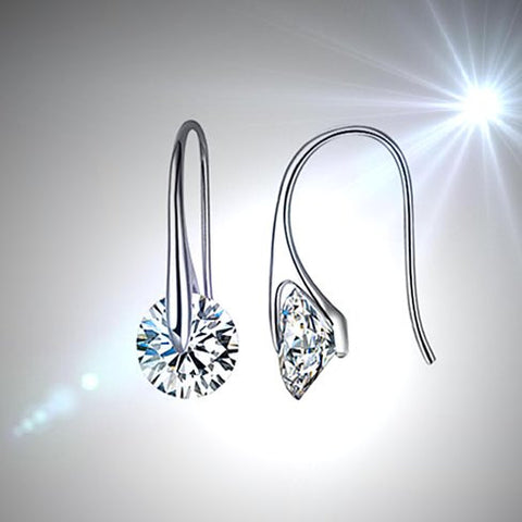 BOUTIQUE DIAMONDS - Charming Swarovski Drop Earrings - VistaShops - 2