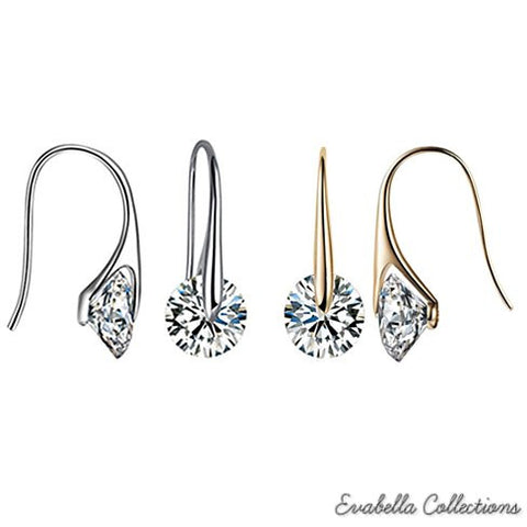 BOUTIQUE DIAMONDS - Charming Swarovski Drop Earrings - VistaShops - 4
