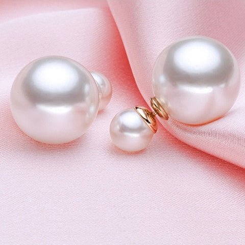 Rabaran - The Tribal Double Pearl Earrings - VistaShops - 1