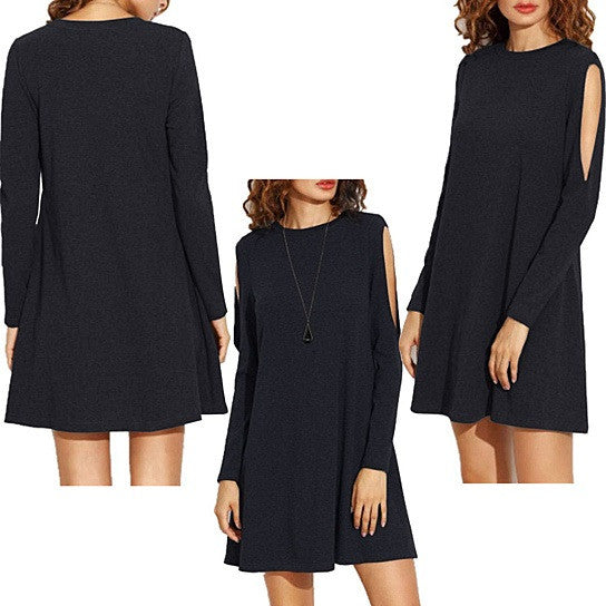 Almondina Tunic Dress With Slivered Sleeves