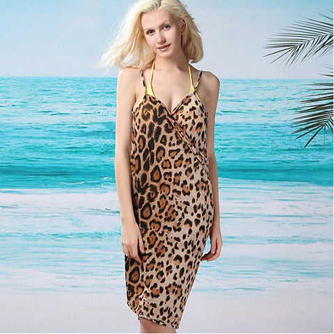 Endless Summer Wrap In Wild Leopard Print