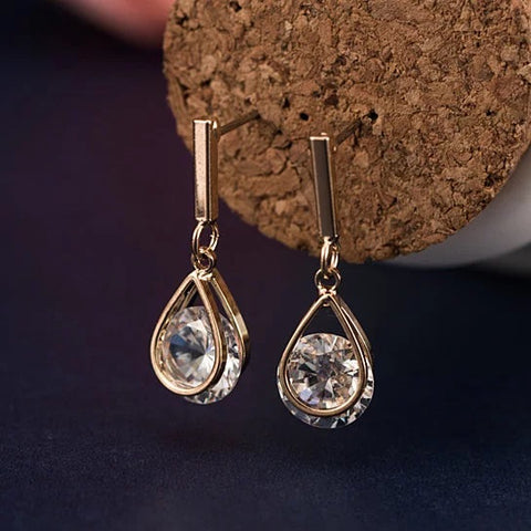 Charmed Earrings With 2ct CZ In Gold And Silver