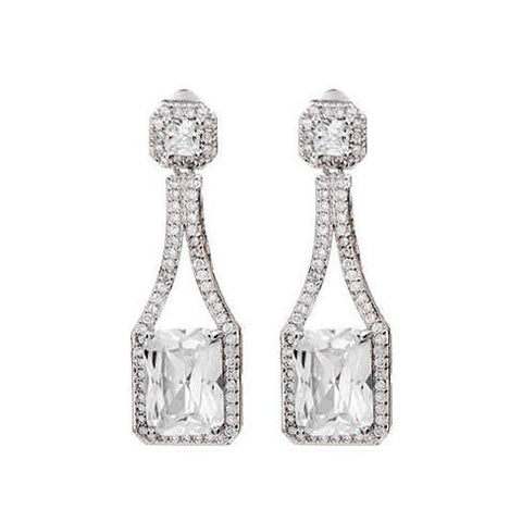 Love At First Glance - The Diamond Crystal Bridal Earrings - VistaShops - 1