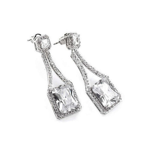 Love At First Glance - The Diamond Crystal Bridal Earrings - VistaShops - 2