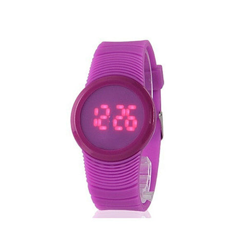Face Off LED Touch Sensor Watch in Round Dial