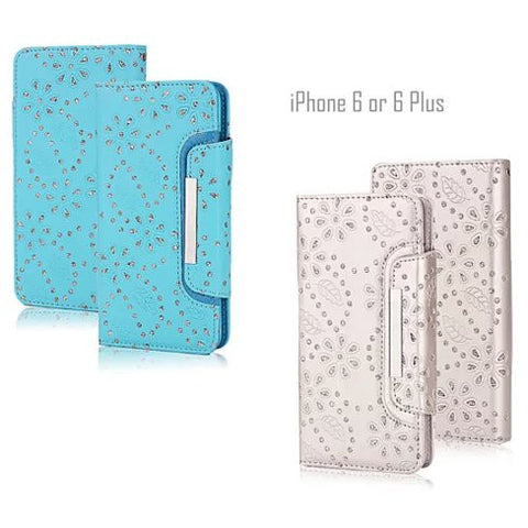 Isadora Vintage Charm Wallet For iPhone 6 / 6 Plus With Matching Detachable Phone Case Feature - VistaShops - 1
