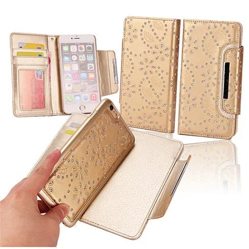 Isadora Vintage Charm Wallet For iPhone 6 / 6 Plus With Matching Detachable Phone Case Feature - VistaShops - 4