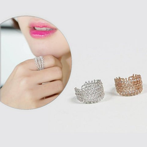 Bellezza Micro Pave Cocktail Ring