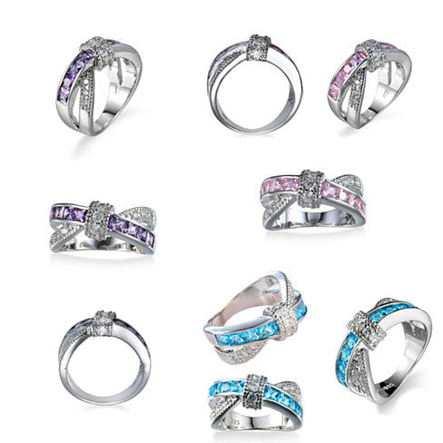You Cross My Mind Ring Diamond Crystals In 3 Lovely Colors