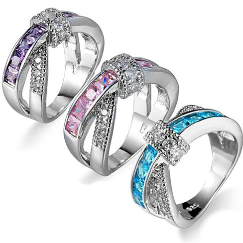 shopify-You Cross My Mind Ring Diamond Crystals In 3 Lovely Colors-1