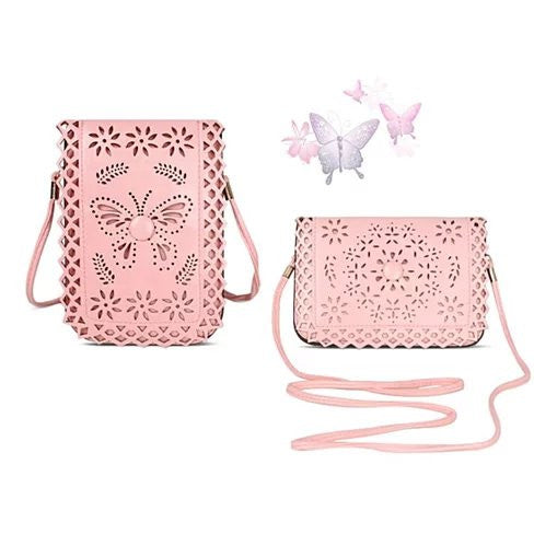 Social Butterfly A Flower And A Butterfly Filigree Design Crossbody Bag - VistaShops - 1