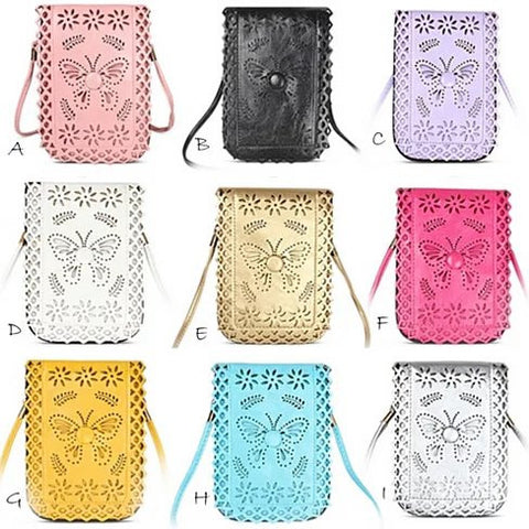 Social Butterfly A Flower And A Butterfly Filigree Design Crossbody Bag - VistaShops - 4