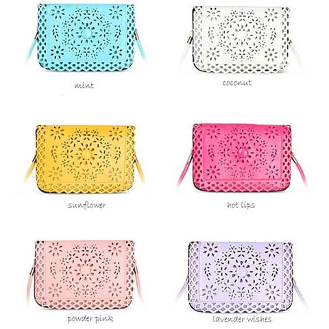 Social Butterfly A Flower And A Butterfly Filigree Design Crossbody Bag - VistaShops - 5