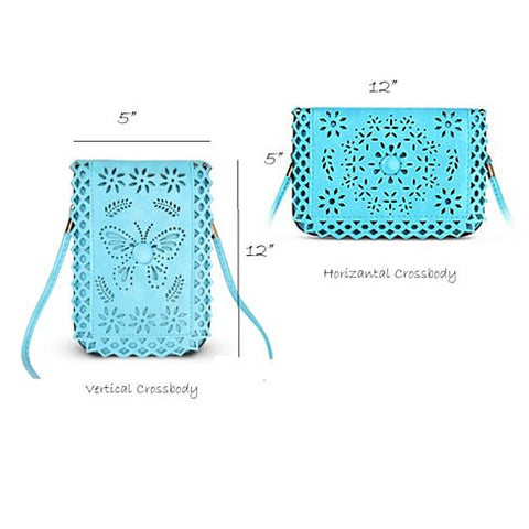 Social Butterfly A Flower And A Butterfly Filigree Design Crossbody Bag - VistaShops - 6