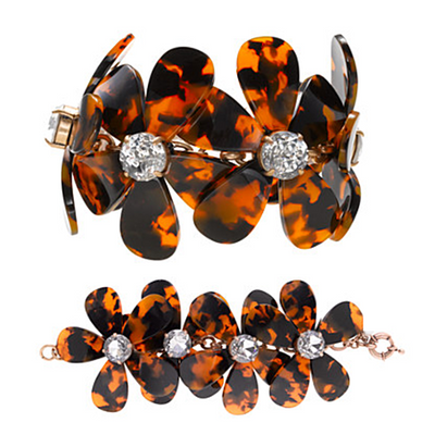 Flowers in Bloom - Our Tortoise Shell Color Bracelet to match the Necklace - VistaShops