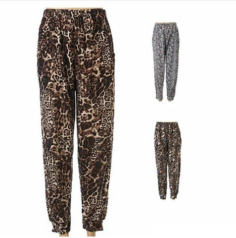 FLOWERS IN THE WILD Animal Prints and Multi colored Flowers Loose Fitted Pants - VistaShops - 1