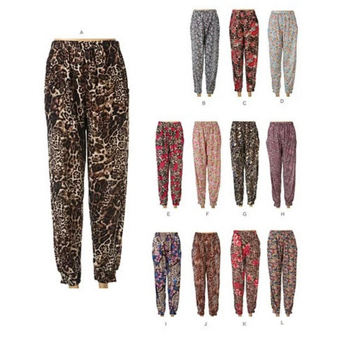 FLOWERS IN THE WILD Animal Prints and Multi colored Flowers Loose Fitted Pants - VistaShops - 2