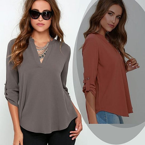 Top Notch Shirt With Notch Collar