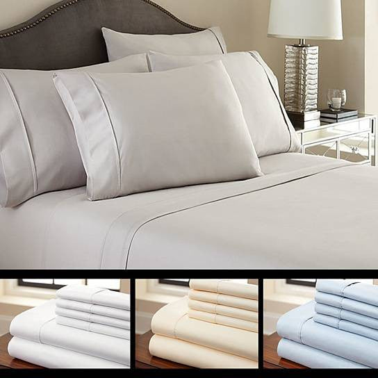 shopify-6-Piece Luxury Soft Bamboo Bed Sheet Set in 12 Colors-1
