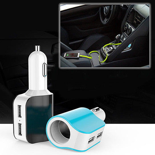 shopify-Dual USB Car Charger with access to Cigarette Lighter Port-1
