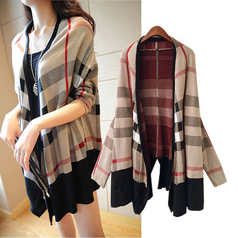 Playful Plaid Cardigan