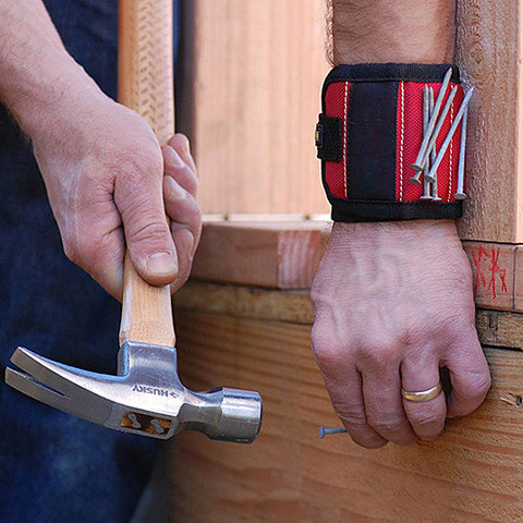 Magnetic Handyman Wristband for Nails, Screws, Bits and More