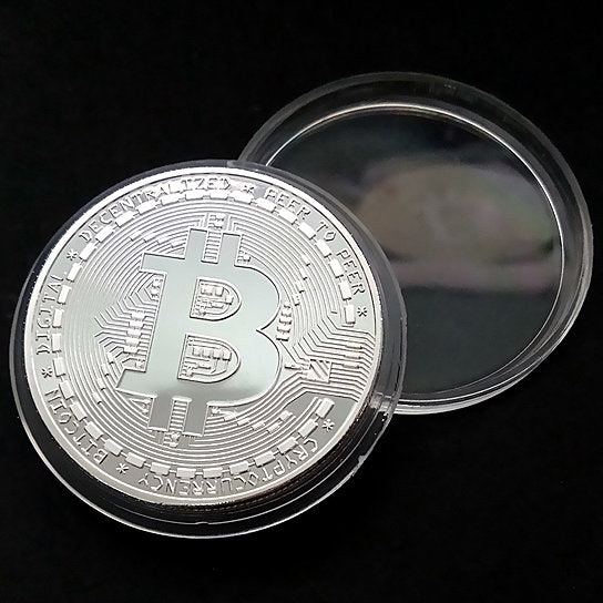 Bit Coins The Celebratory Coins In Crystal Clear Case