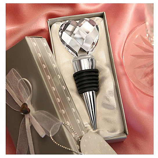 I Heart Wine Crystal Heart Wine Stopper