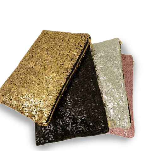 Glitterati Glam Clutch Sequins In 4 Colors - VistaShops - 1