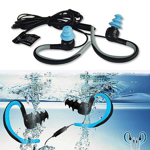 Waterproof Bluetooth Headphones with Swimmers Earplugs