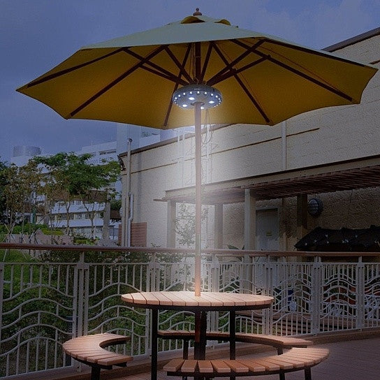 Ufo 360 patio umbrella light with 28 led ring vistashops ufo 360 patio umbrella light with 28 led ring aloadofball Image collections