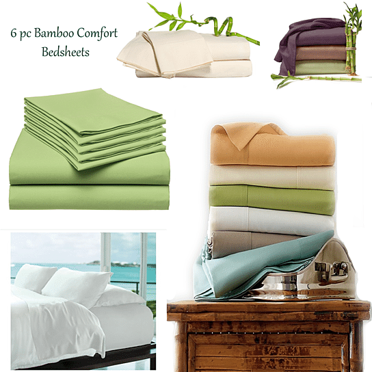 shopify-6-Piece Luxury Soft Bamboo Bed Sheet Set in 12 Colors-4