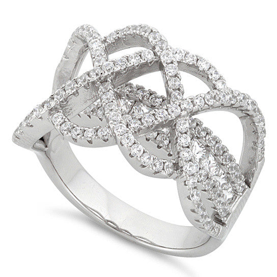 shopify-Ring Ceremony Double Infinity 2 In 1 CZ Ring-1