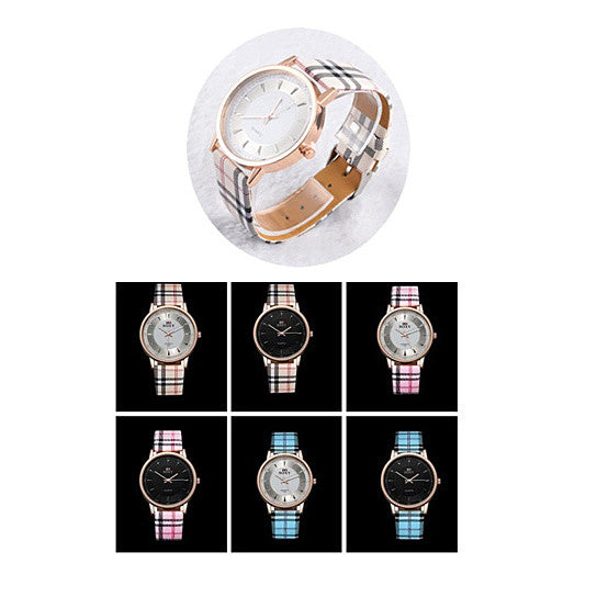 shopify-Londonite Watch With Plaid Band Time To Be Playful-2