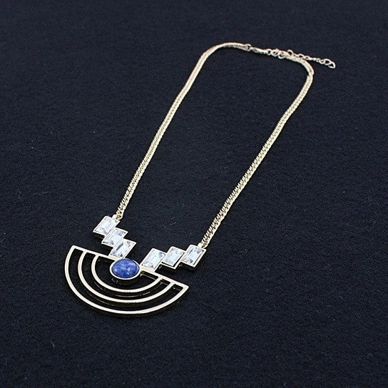Sailboat Necklace With Natural Gemstones and Crystals