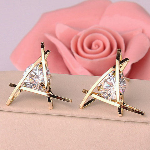 Tiki Cute Triangle Stud Earrings