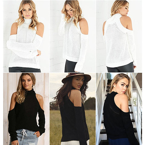 Hug Me Soft Cold Shoulder Sweater Top