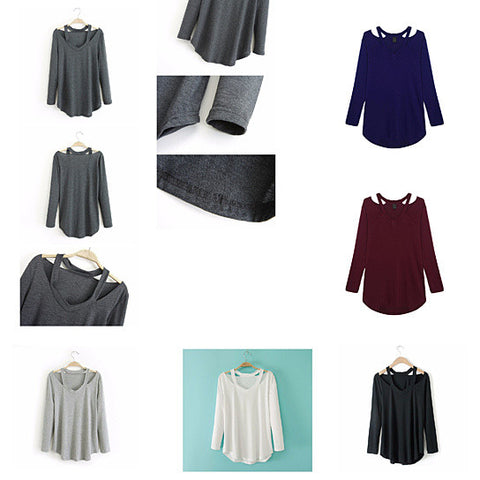 Cut Out To Lounge Top Easy Wear Long Sleeves In 6 Colors