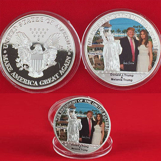 shopify-The First Couple Commemorative Coin With Donald And Melania Trump-1
