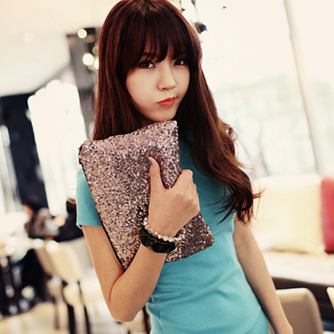 Glitterati Glam Clutch Sequins In 4 Colors - VistaShops - 3