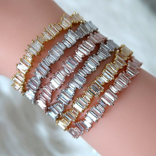 Bonjour Bracelet La French Natural Baguette Setting