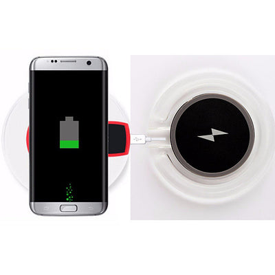 Wireless Qi Charger In Translucent Color For Samsung And Other Compatible Phones