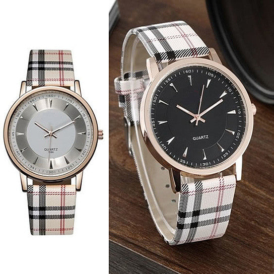 shopify-Londonite Watch With Plaid Band Time To Be Playful-1