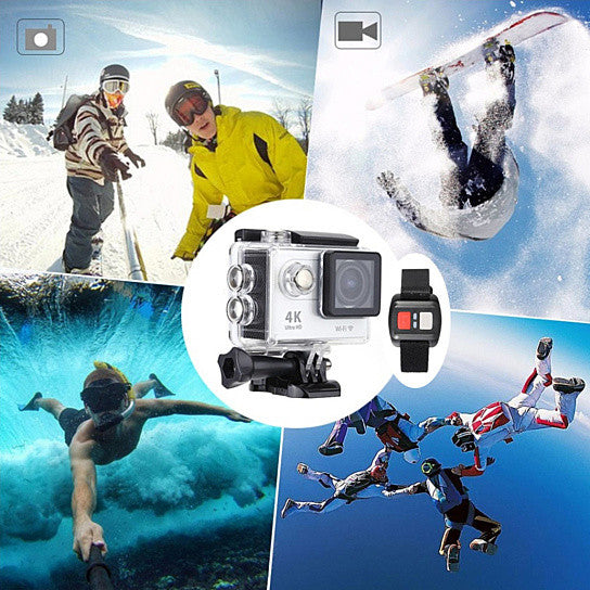 shopify-4K Action Pro Waterproof All Digital UHD WiFi Camera + RF Remote And Accessories-4
