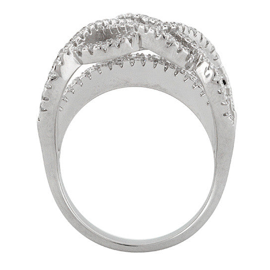 Ring Ceremony Double Infinity 2 In 1 CZ Ring