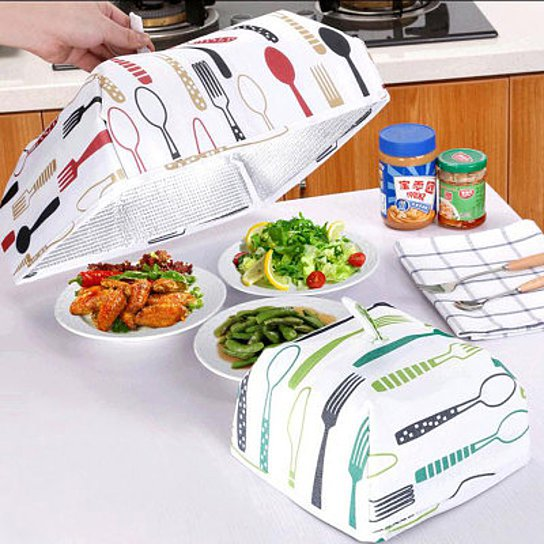 shopify-Dish Tent Insulated Foldable Food Cover-1