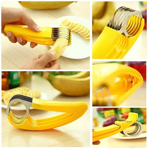 Go Bananas Over The Bite Size Banana Slicer - VistaShops - 2