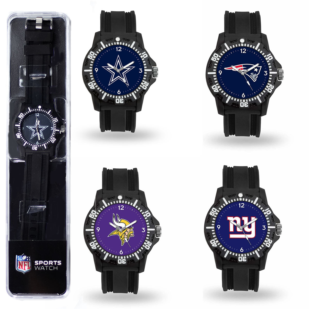 shopify-Game Time NFL Team Logo His Or Her Watches-46