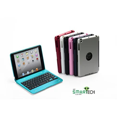 Hard Shell iPad mini case with Bluetooth wireless keyboard in multi colors - VistaShops