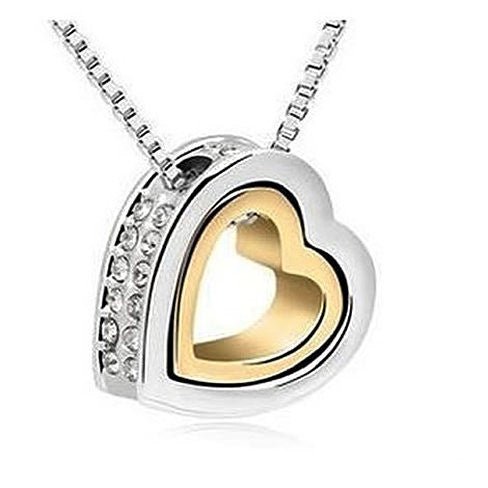 Hugging Hearts Pendant and Chain - VistaShops - 3